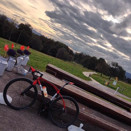 road viaje sunset sky bike clouds evening ride instagram ifttt volagi 27082014