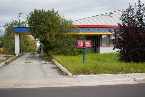 abandoned fast food restaurant, Airport Way, Fairbanks, AK