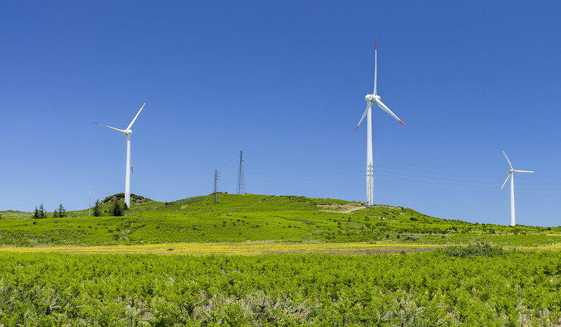 Windmills field in Paul da Serra