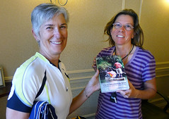 Tricia and heather with book Washington Cascades 2014_0031