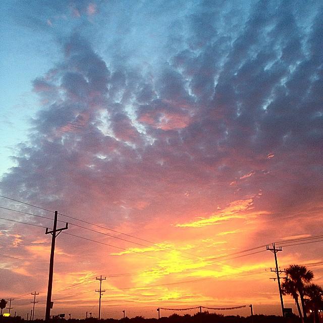 Beautiful sunset tonight at the beach!