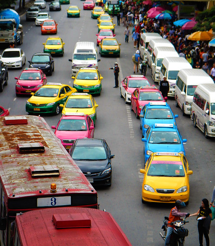 Bangkok taxis outside of Chatuchak Market