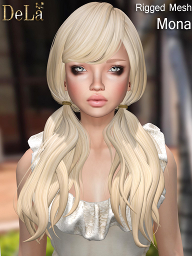"=DeLa*= New rigged mesh hair ""Mona"""