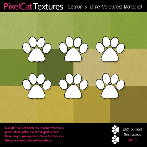 PixelCat Textures - Lemon & Lime Coloured Material