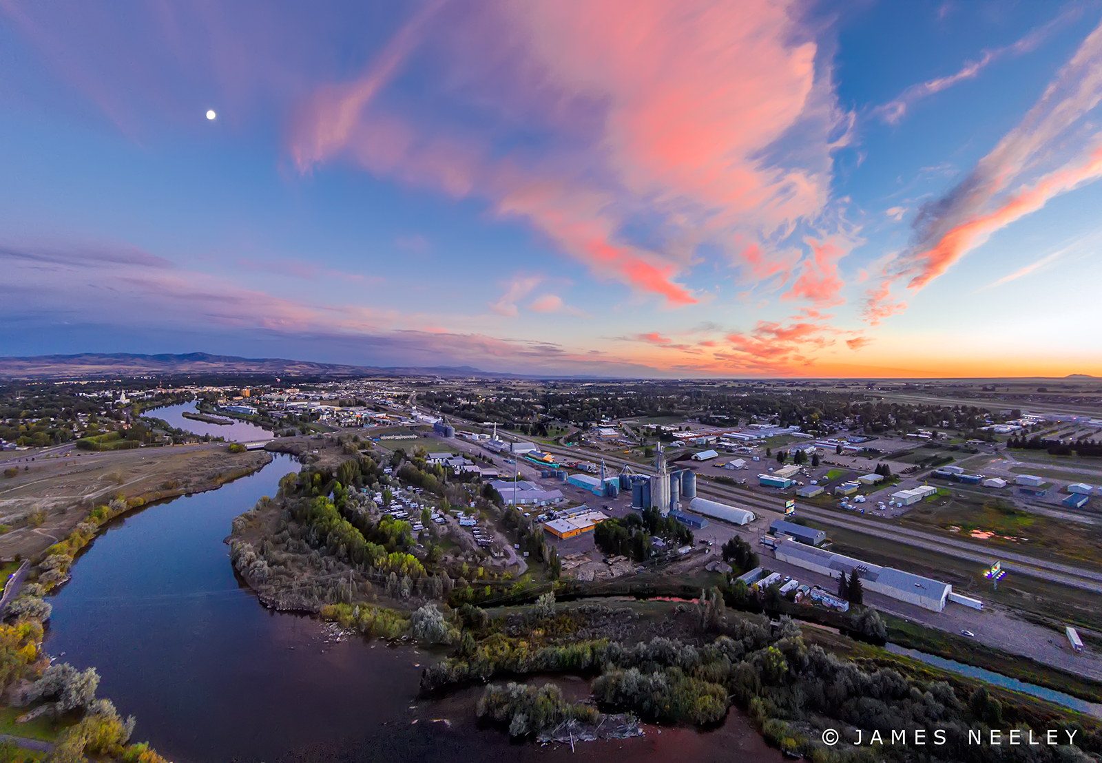 sunset panorama idaho aerialphotography idahofalls drone jamesneeley djiphantom djiphantom2vision