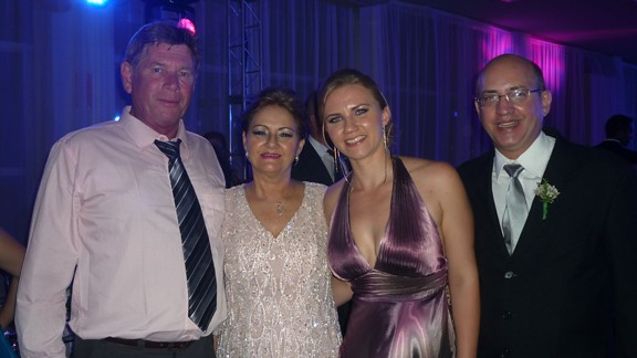 Rubens Kasemodel, Nádia Alves, Thays Kasemodel e Evandro Berretta