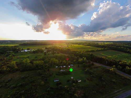 sunset clouds aerial vision lensflare fields phantom goldenhour godrays dji countryisde