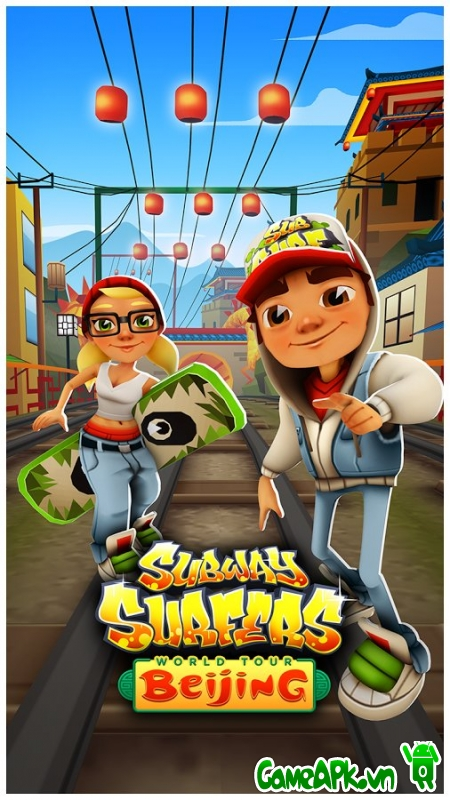 Subway Surfers Beijing v1.28.0 hack full Coins & Keys cho Android