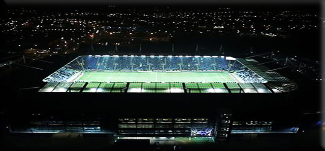 Picture of King Power Stadium at night