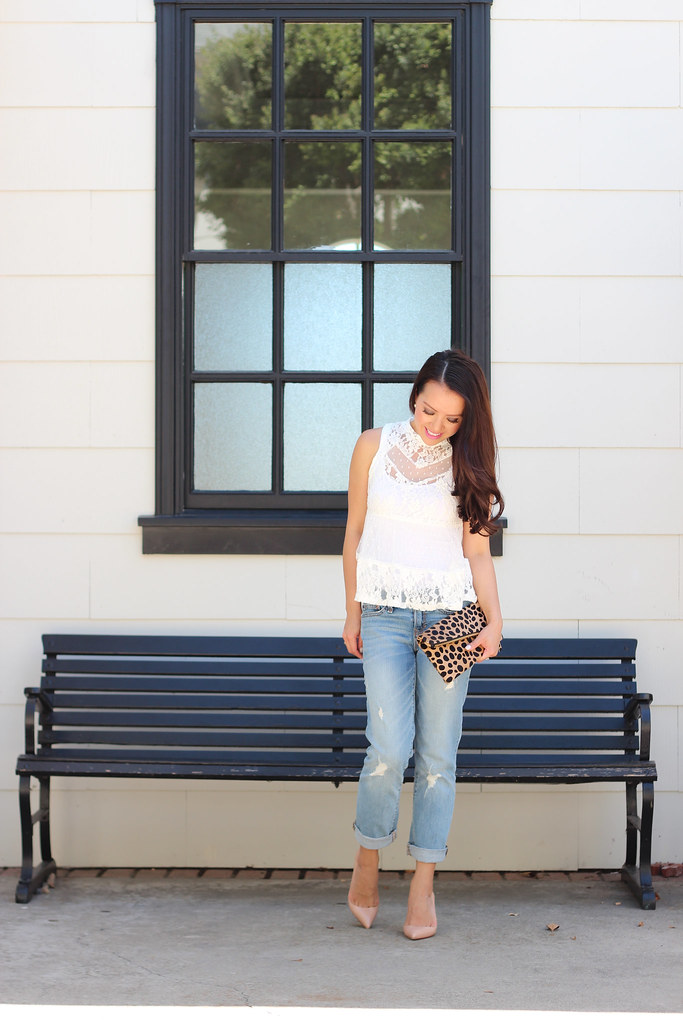 Distressed Denim and Lace-4