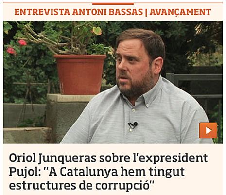 14h29 ara Junqueras En Cataluña hemos tenido estructuras de corrupción