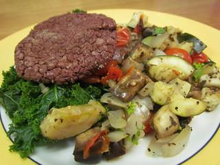 Freeburgers; Roasted Ratatouille