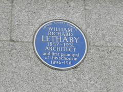 Photo of William Richard Lethaby blue plaque