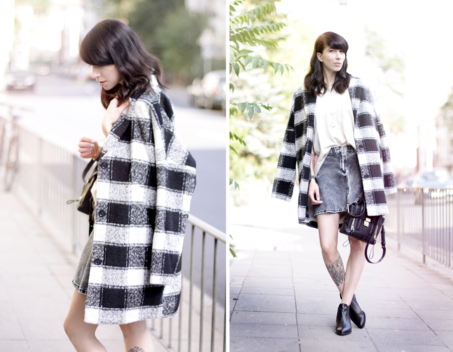 Kolibrishop checkered coat karo mantel herbst style streetwear denim vero moda ootd look fashionblogger CATS & DOGS ricarda schernus 5