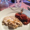 Today @toscanamia #cookingclass Parmigiana di Melanzane (#eggplants parmigiana) & Tacchino al Latte (Turkey breast cooked in milk) #italianfood #igerstuscany #tuscanfood #italiancooking #tomatosauce