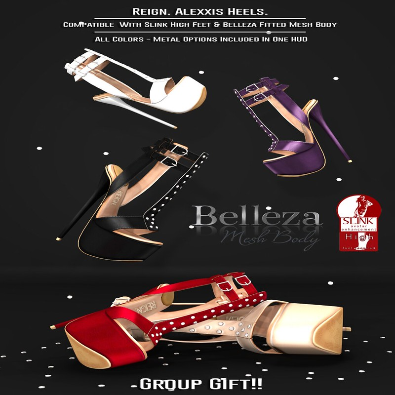 REIGN.- ALEXXIS HEELS GROUP GIFT.