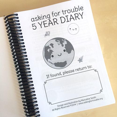 Solar System 5 Year Diary
