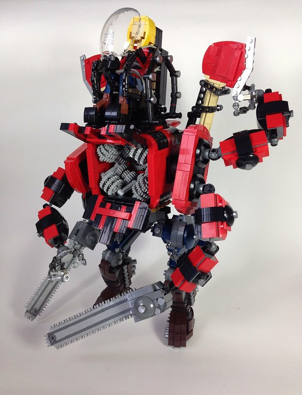 Lumberjack Mech: chipper/shredder included!