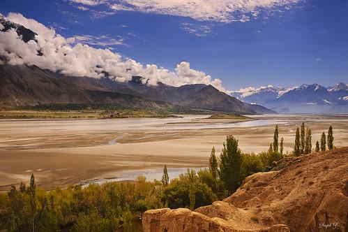 pakistan landscape delta areas northern indus skardu baltistan