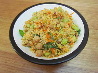 Couscous with Edamame and Chickpeas