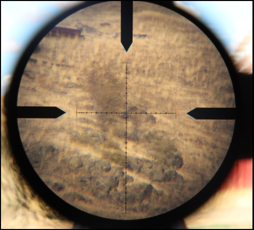 Through the scope at 15x