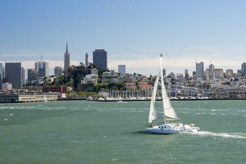 2016 alcatraz california sfo sanfrancisco usa alunos trip bayarea sanfranciscobay sailing sailer water greenwater boat
