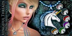 Vengeful Threads - Original Mesh - Unicorn Fantasy Necklace_Ad