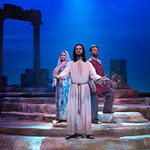 Jesus Christ Superstar - Pictured L-R: Jenna Bainbridge (Mary Magdalene), Billy Lewis, Jr. (Jesus) and Matt LaFontaine (Judas) Photo: M. Gale Photography 2017