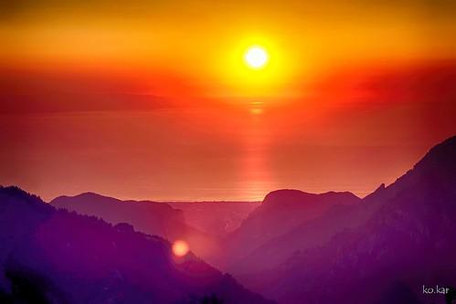 kokar greece olympos zolotas sunset karakontakis