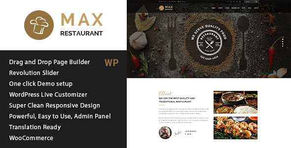 Restaurant WordPress Theme free download