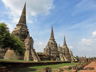 Image of  Wat Phra Si Sanphet. thailand ayuthaya wat phra si sanphet historical world heritage