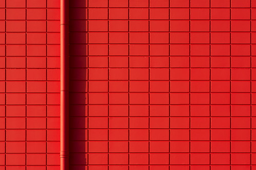 Red drain and red wall (on Explore) by Jan van der Wolf