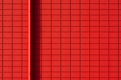 Red drain and red wall