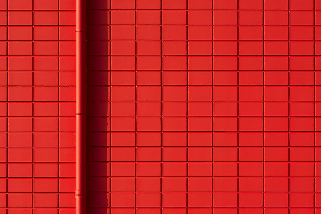 Red drain and red wall (on Explore)