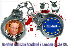 """EU HANDCUFFS isn't independence. """"The N.W.O is the EU!"""""""