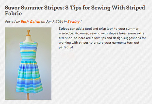 Craftsy sewing stripes post