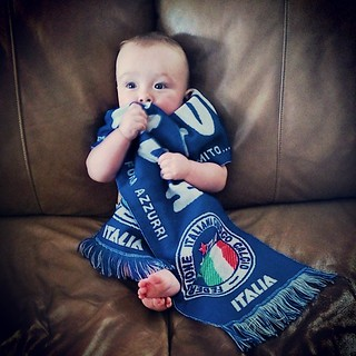 Someone is ready for the game! #forzaazzuri