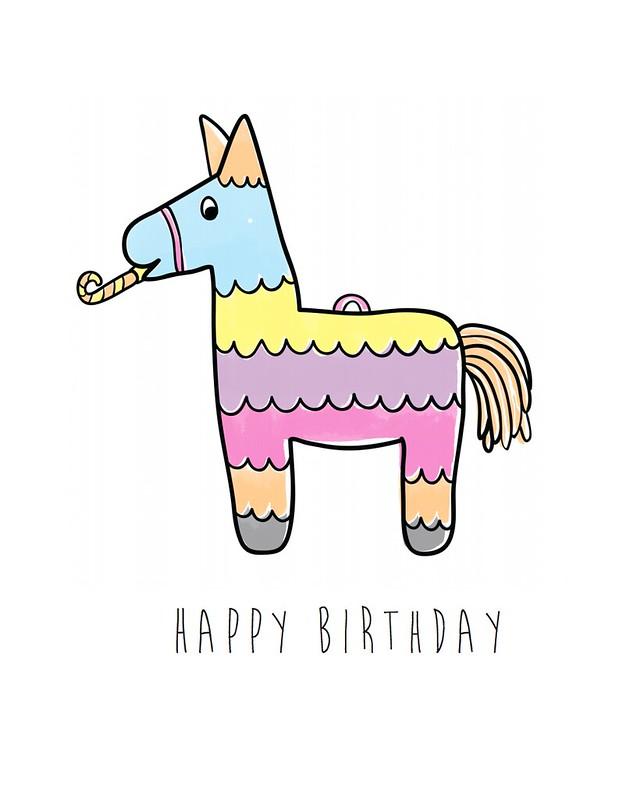 Happy Birthday Piñata by Little Love Boat