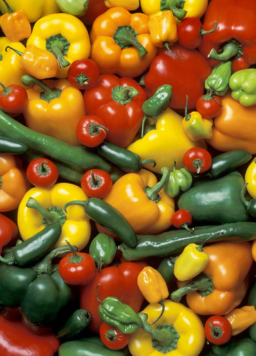 Peppers are part of the Solanaceae family, which includes potato, tomato, and eggplant.
