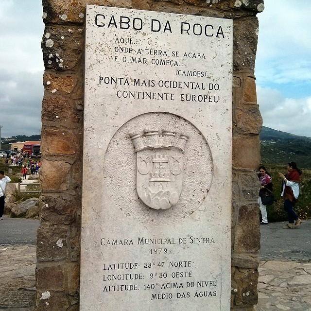Ya puedo decir que he estado en todas las esquinitas de la península ibèrica #Lisboa #cabodaroca