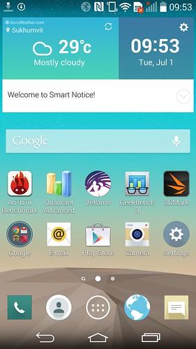 Home screen ของ LG G3