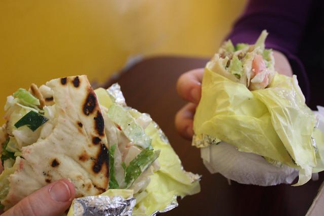 Falafel Sandwich at Mr Gyros