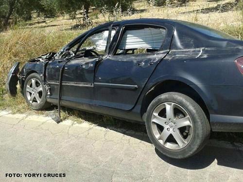 AionSur 14385282314_b588492dd6_d Nuevo accidente en la carretera Morón-Arahal a la altura de Valle Verde sin víctimas mortales Sucesos  Nuevo accidente Arahal Morón