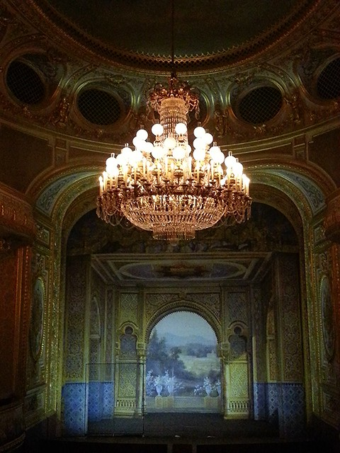 Renovated theater at Fontainebleau castle.
