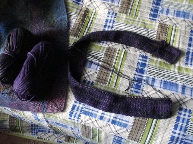 Linen stich scarf