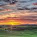 The Palouse: Heavenly Sunrise by prose729