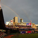 Double rainbow over Target Field during the 2014 All-Star Home Run Derby