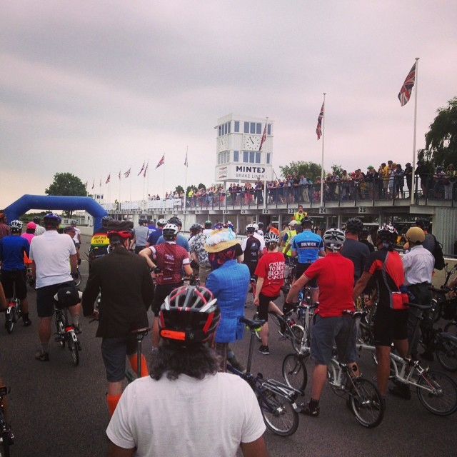 Start of the #Brompton meander #bromptonbicycle #urban #bwc2014