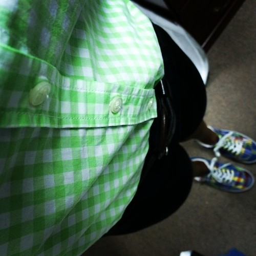 #green and #plaid, I had to wear my favorites on my #birthday! #whatimwearing