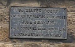 Photo of Walter Scott black plaque